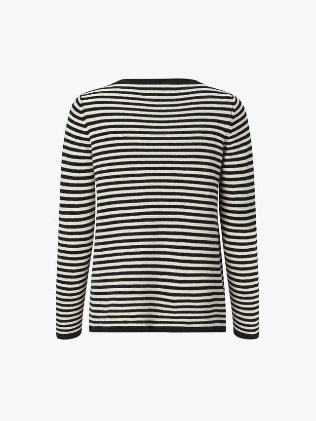 Organic Linen Stripe Knit Top
