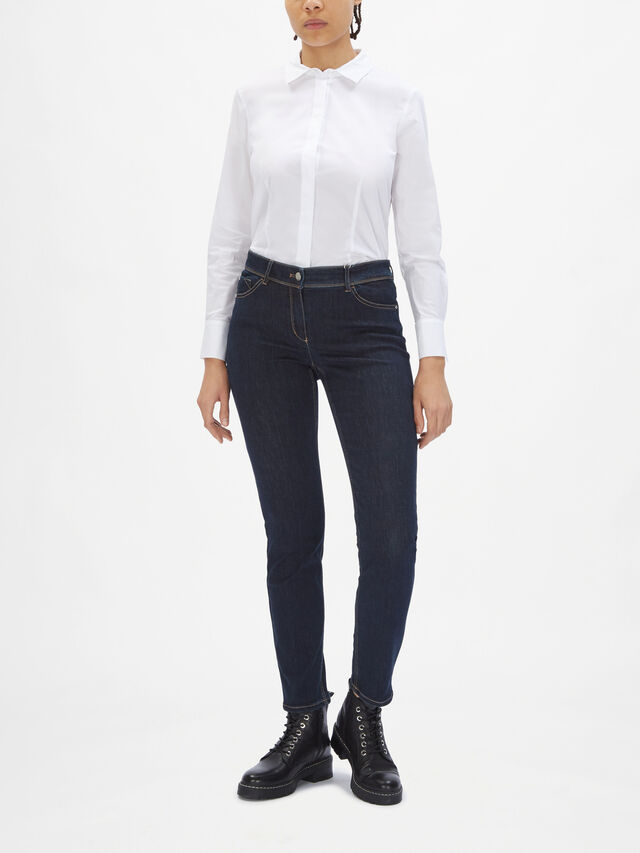 Slim Leg Stretch Indigo Jeans