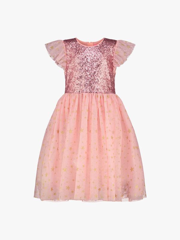 Shimmer Sequin & Star Tulle Dress