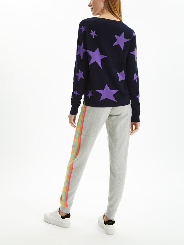 Crew Neck All Over Stars