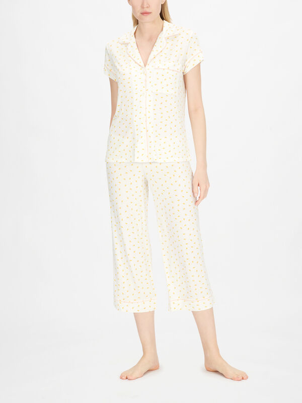 Giving Pyjama Short Sleeve Cropped Pyjama Set