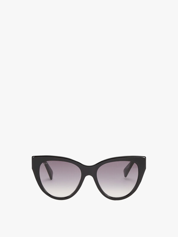 Stripe Hinge Cat-Eye Sunglasses