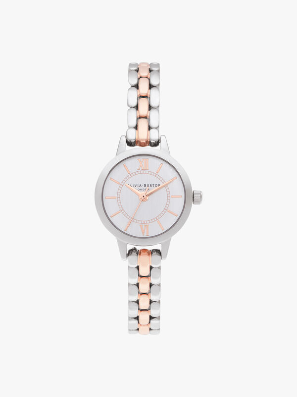 Mini Dial Silver & Rose Gold Bracelet Watch