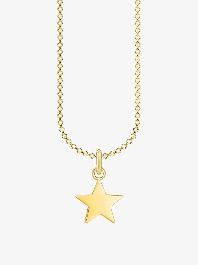 Gold Star Pendant Necklace