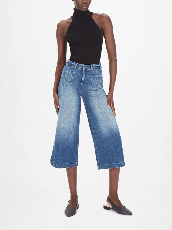 Pazienza Cropped Wide Leg Jeans