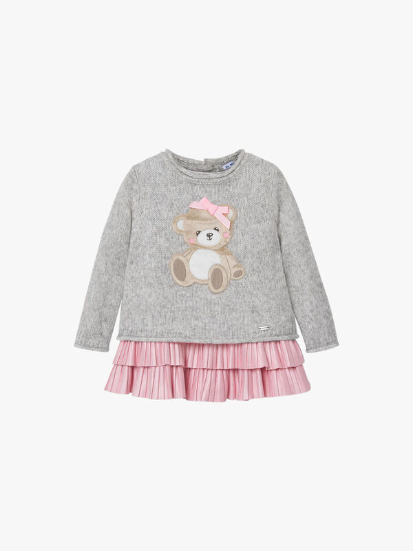 Knitted Layered Teddy Dress