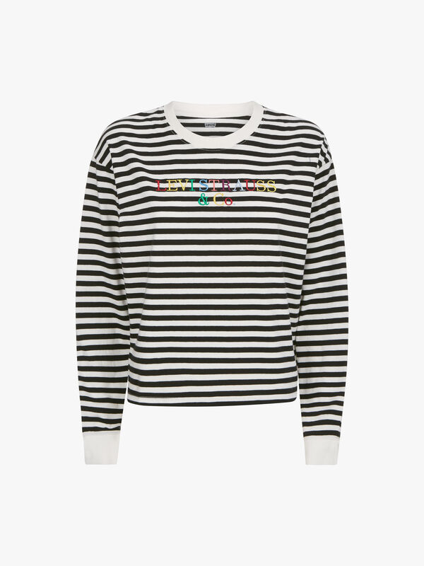 Multicolour Logo Graphic Long Sleeve Tee