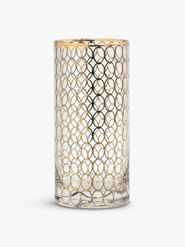 Gold Pattern Tall Glass