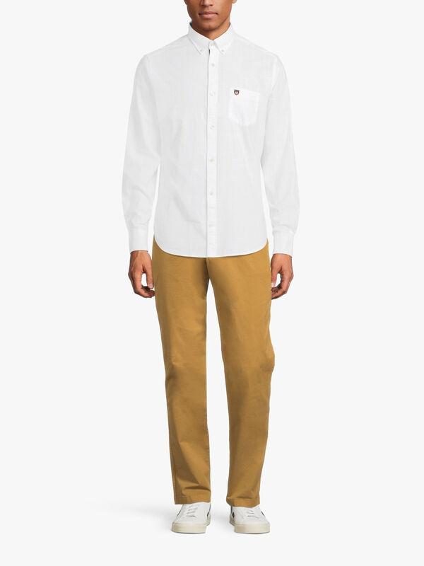 Longsleeved Plain Cotton Shirt