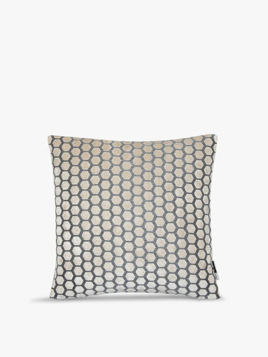 Cut Velvet Hexagon Cushion 56cm