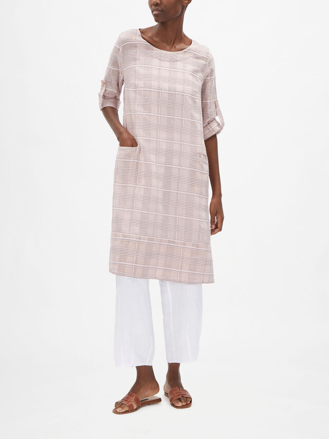 Check Tunic with Pockets