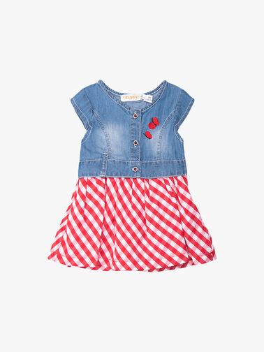 Denim-Top-and-Gingham-Skirt-Dress-11126