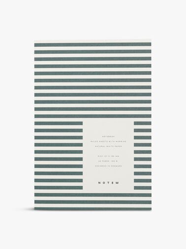 Vita Green Stripe Small Notebook Ruled Pages