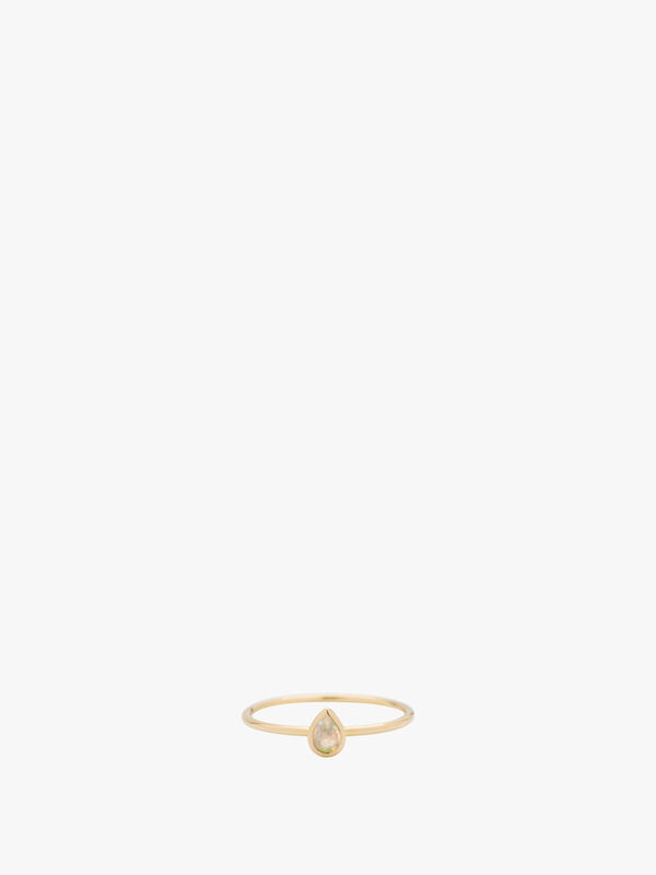 Pear Cut Stacking Ring Opal