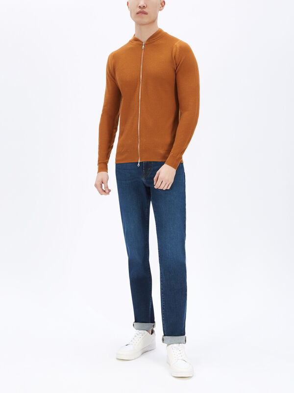 6.Singular Knitted Zip Thru Jumper