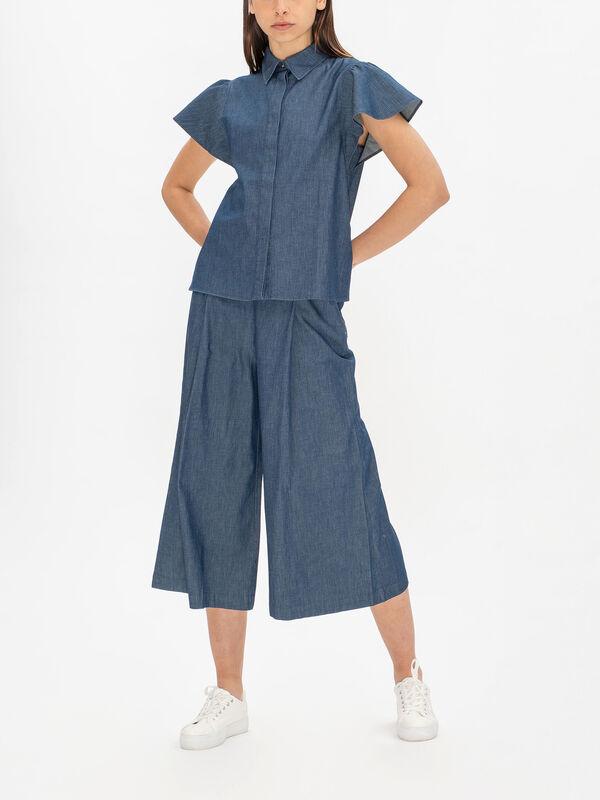 Carla Denim Short Sleeve Shirt