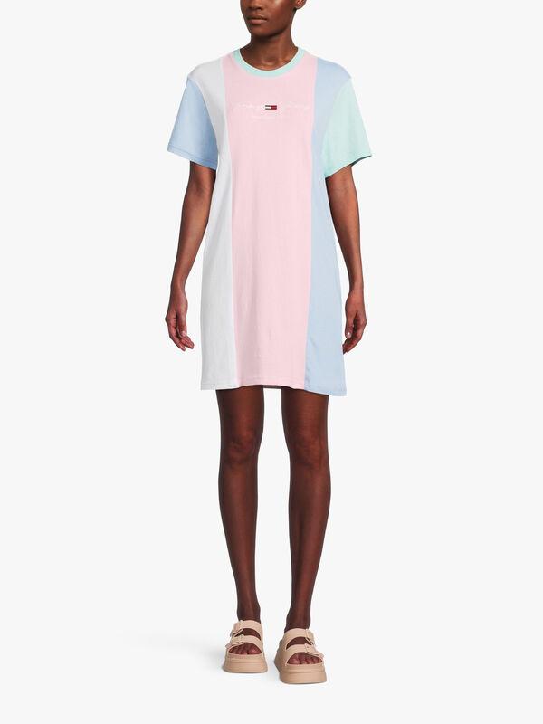 Colour Block T-Shirt Dress