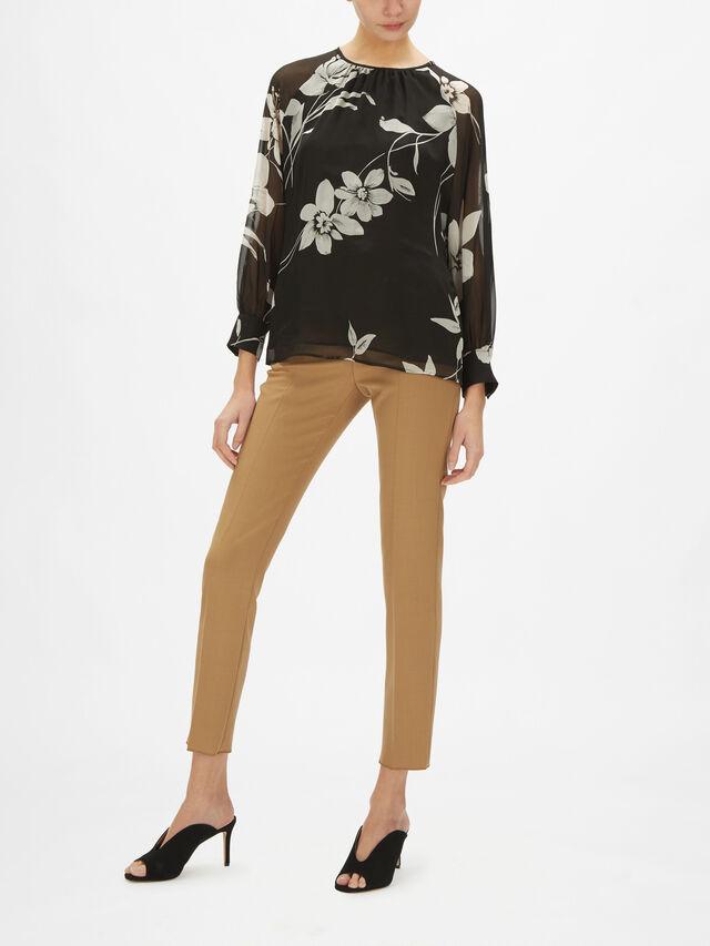 Palco Printed Silk Blouse