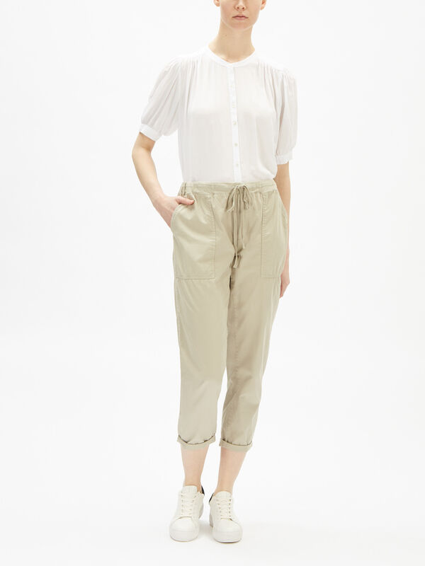 Misty Cotton Twill Trousers