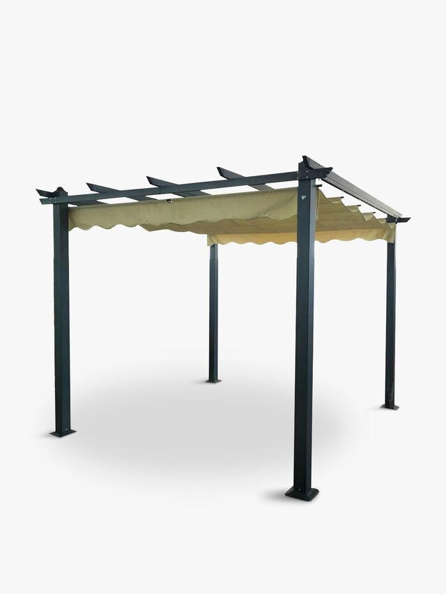 Aluminium Pergola with Retracting Roof