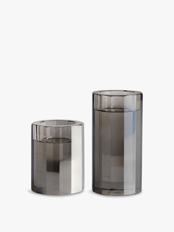 Nordal Crystal Tealight Holder Set of 2