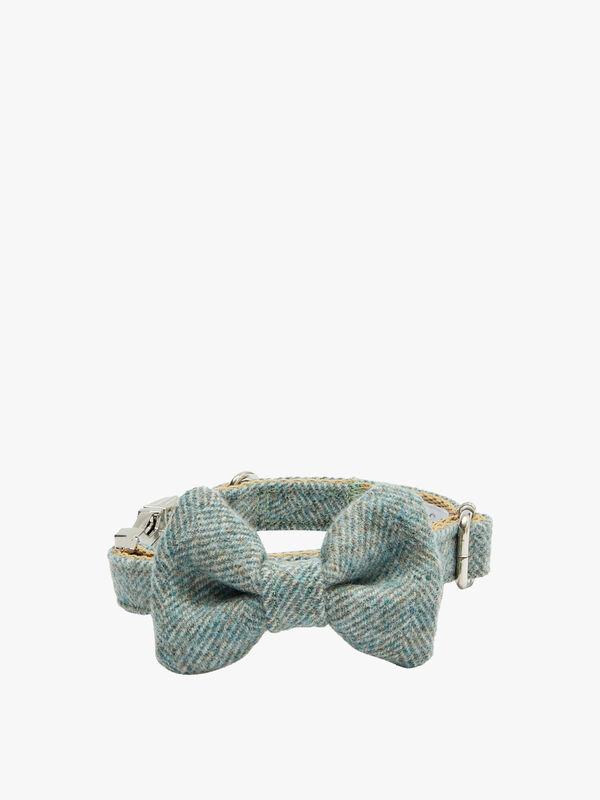 Sage Harris Tweed Dog Collar Medium