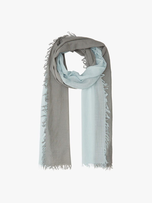 Silk and Cashmere Blend Ombre Scarf