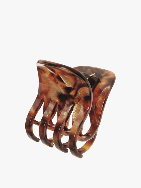 Double Tooth Bulldog Claw Clip (Brown)