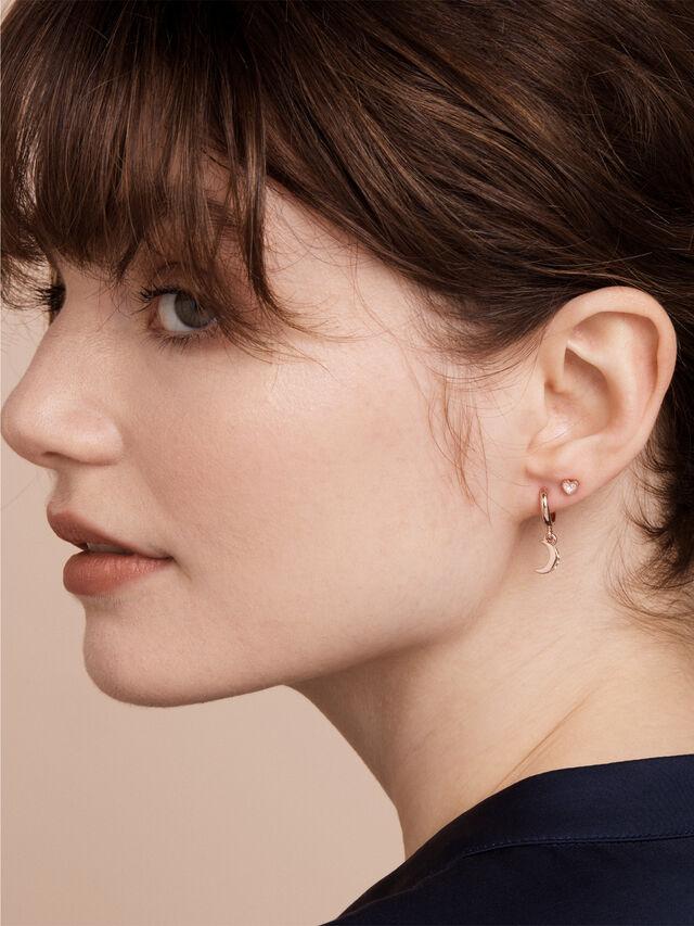Marlaan Crescent Moon Huggie Earrings