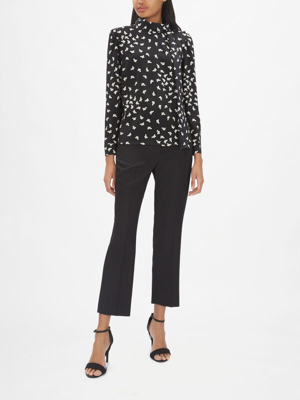 Butterfy Print Top