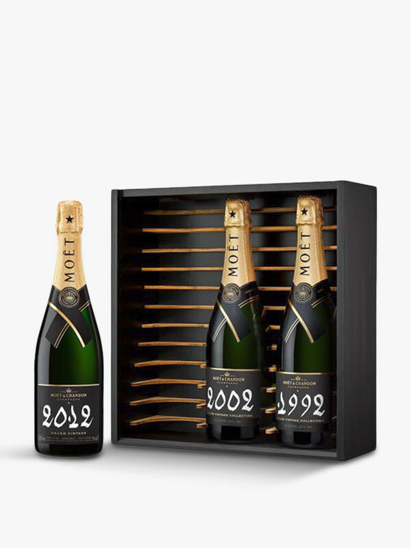 Grand Vintage 1992 2002 2012 Champagne 3 Bottle Gift Box 75cl