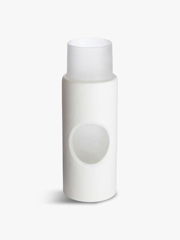 Carved Vase Small White