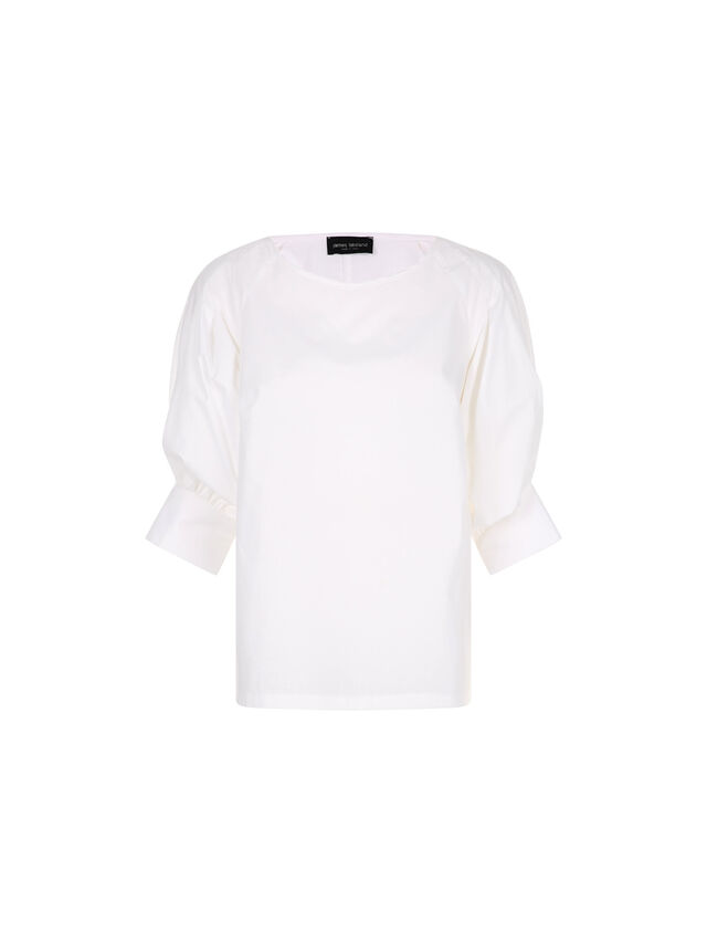 Cotton Puff Sleeve Blouse