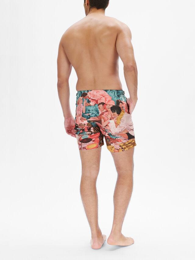 Bulldog Sunshine Diners Swim Shorts
