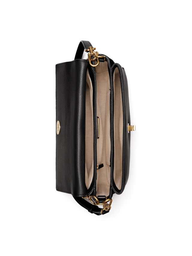 Kira Mixed Materials Shoulder Bag
