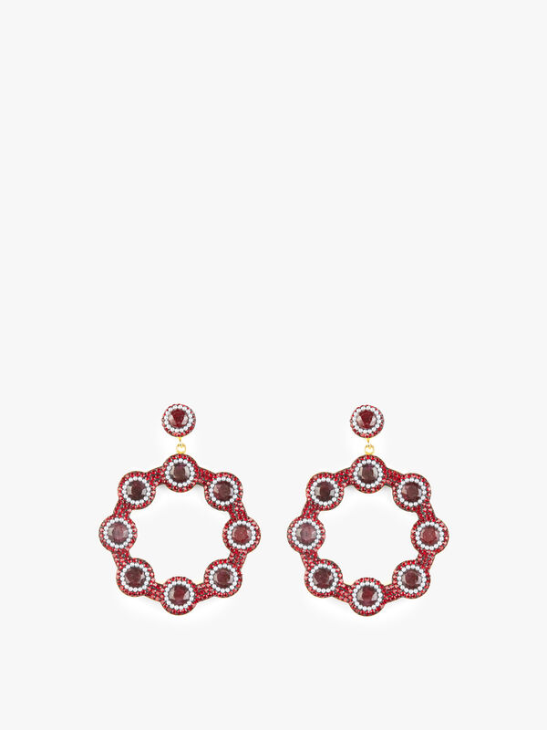 Exclusive Ruby and Pearl Hoops