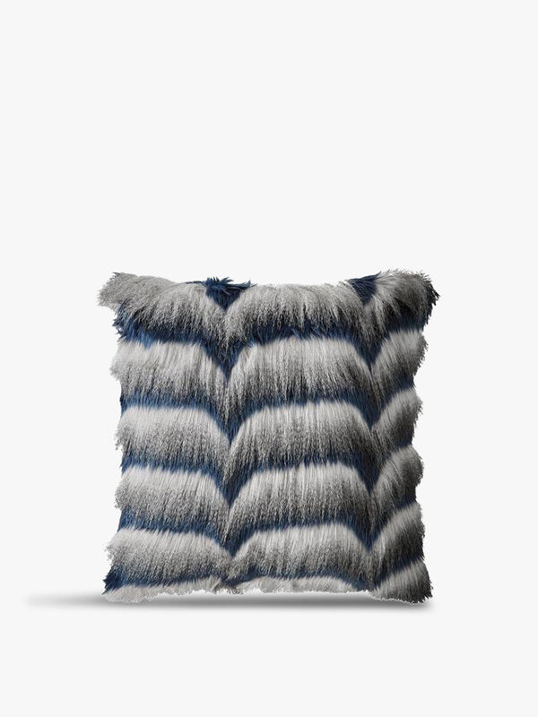 Azure Fur Cushion
