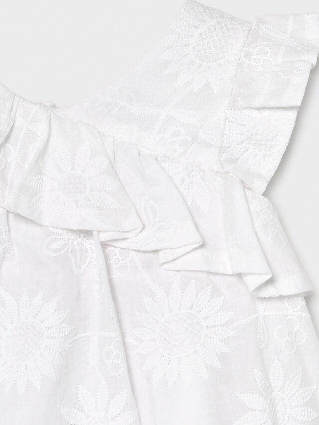 Emboidered Ruffle Dress