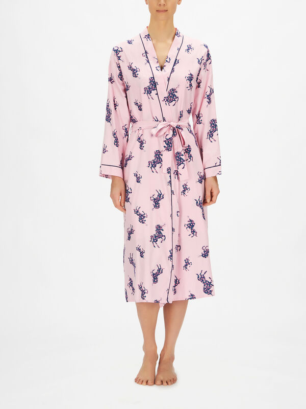 Ariana Unicorn Print Long Dressing Gown