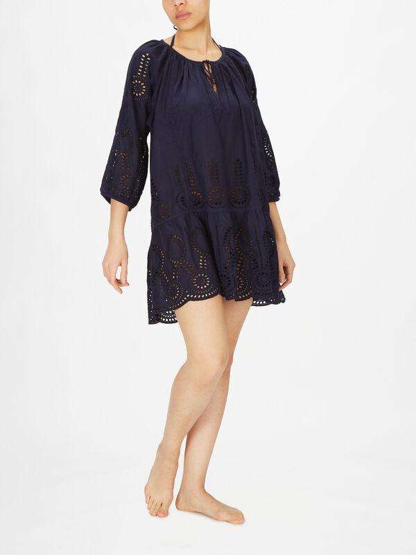 Ashley V Neck Loose Fitting Short Dress