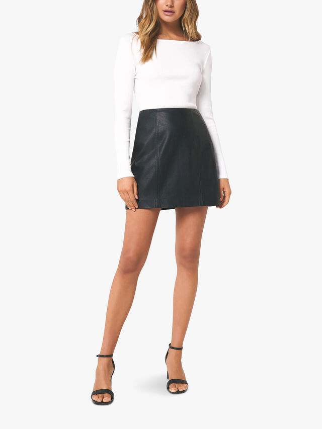 Peyton Seamed PU Mini Skirt