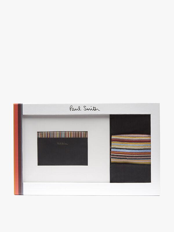 Cardholder & Socks Gift Set