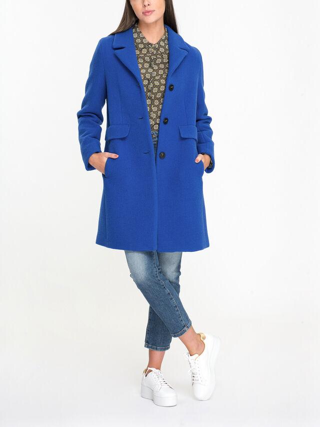 Pece V Neck Wool Blend Coat