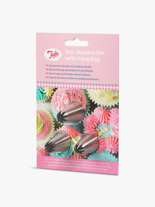 3 Star Nozzles with Icing Bag