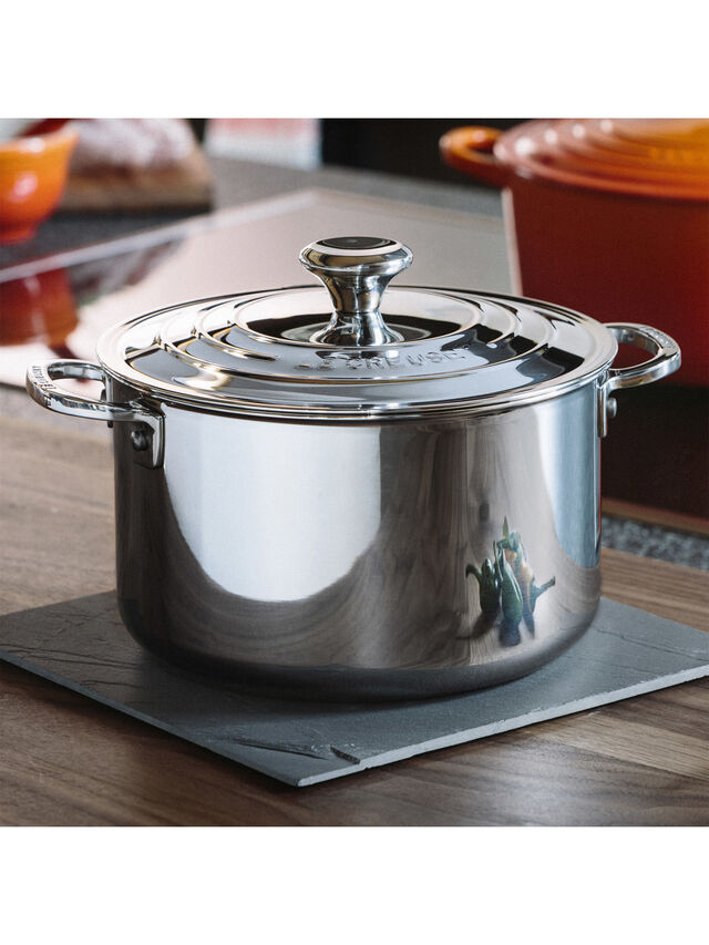Signature Uncoated Stockpot With Lid 28cm