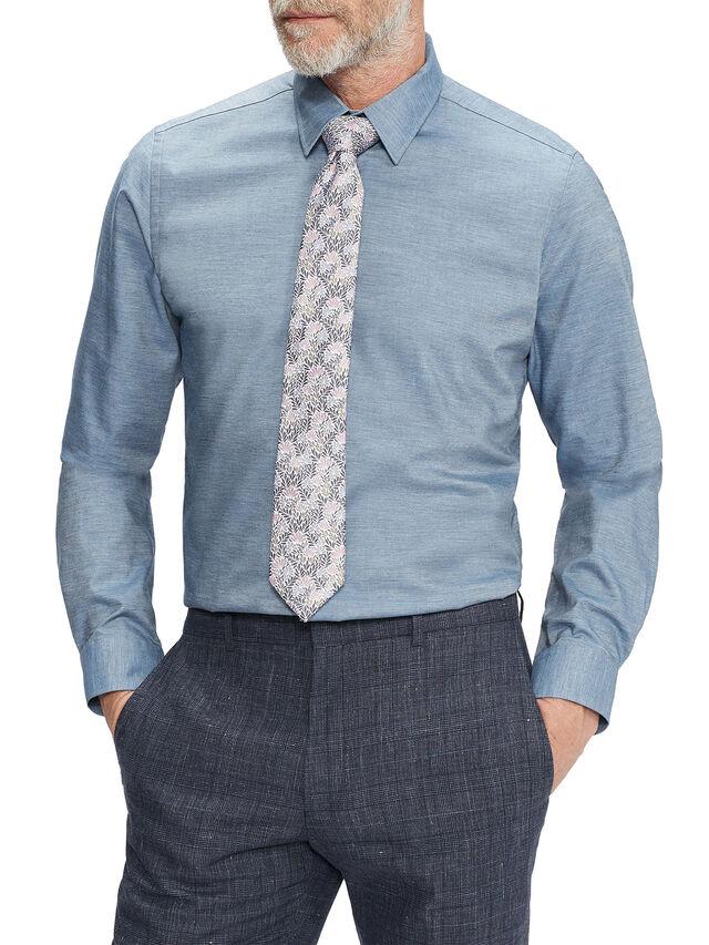LACCOS Long Sleeve Slim Fit Chambray Shirt