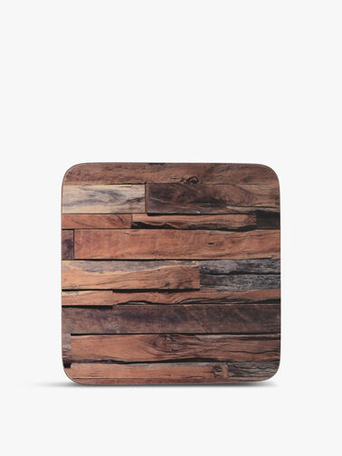 Wood Cabin 6 Piece Premium Coasters