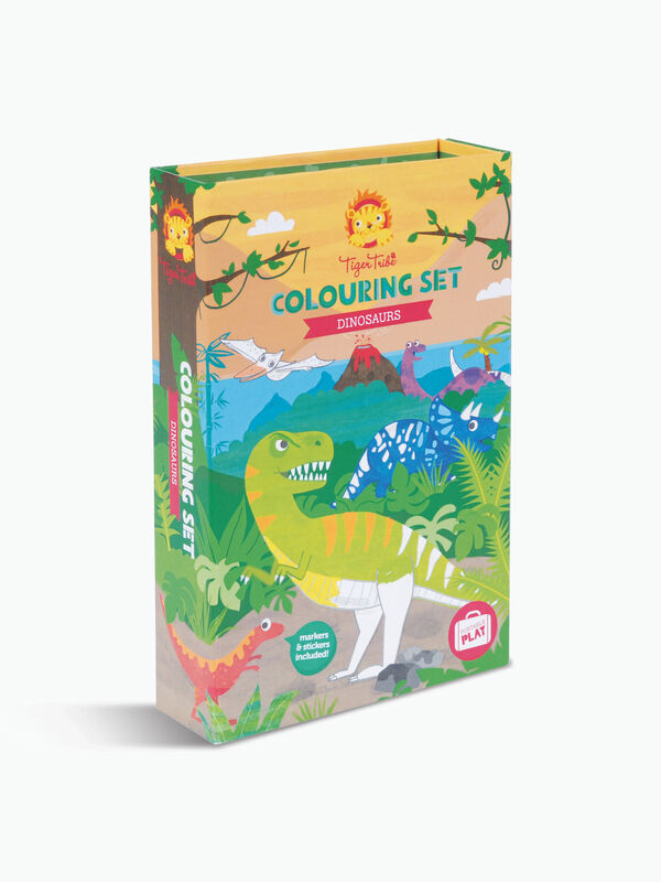 Colouring Sets Dinosaur