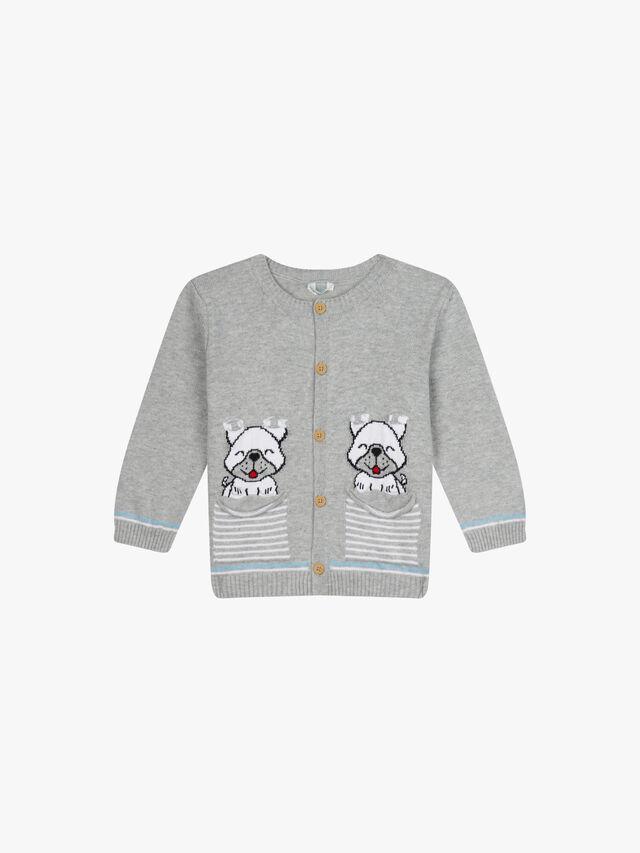 Puppy Pocket Long Sleee Cardigan