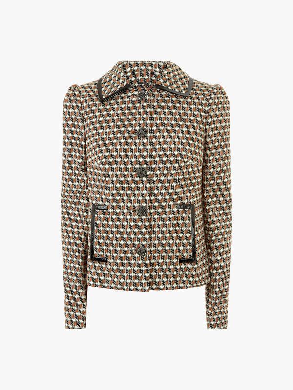 Luka Cubist Stretch Jacquard Jacket
